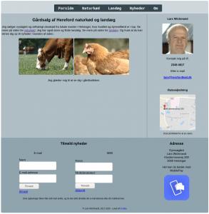 Skærmbillede af Dyresøgårds afviklede hjemmeside