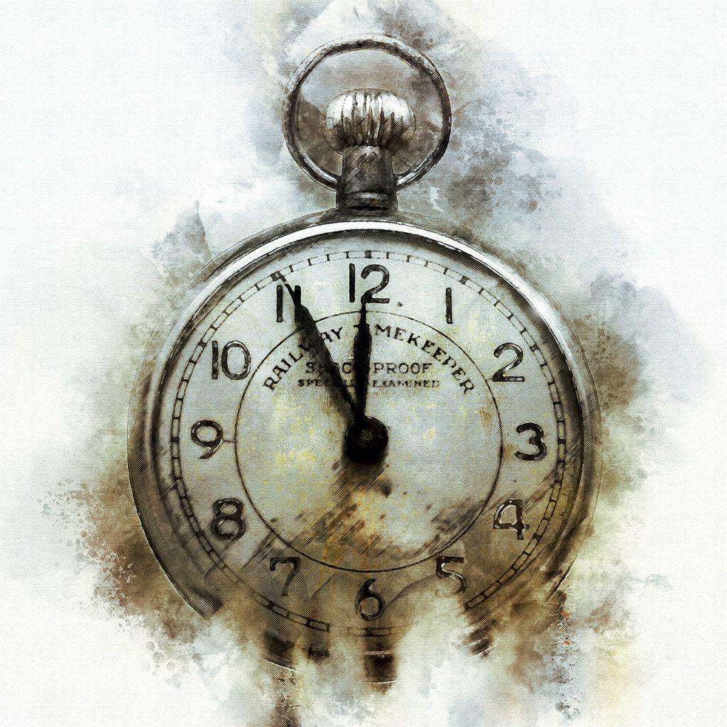 Traditionelt ur med visere